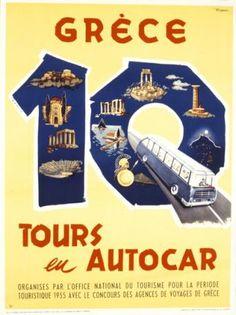 Παλιές αφίσες ΕΟΤ / δεκαετία 1950-1959 Belle Epoque, Old Posters, Vintage Travel Posters, Poster Vintage, Greek Culture, Poster Ads, Conceptual Art, Greece Travel, Retro Vintage