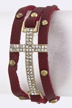 crystal wrap side cross bracelet  $15  email: gregoire9107@yahoo.com  visit:facebook.com/ClassyCajunBoutique