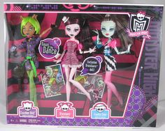 Customer Image Gallery for Monster High Dawn of the Dance Action Figure Doll 3Pack Clawdeen Wolf, Draculaura Frankie Stein