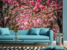 Floral Photo WALLPAPER MURAL Pink Blossom Tree POSTER Wall ART Living Room Decor #Unbranded