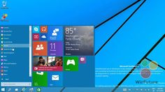 Windows 9 with Start Menu!      Windows 9: Das neue Startmenü in Aktion