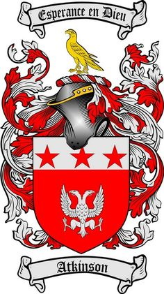 atkinson coat of arms / family crest #heraldry #family #crest #shield #crests #shields #genealogy #coatofarms