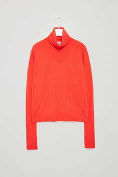 COS image 6 of Cashmere jumper with roll-neck in Signal Red
