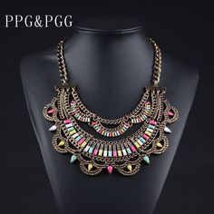 >> Click to Buy << PPG&PGG New Luxury Fashion Jewelry Women Bijoux Chain Crystal Chunky Choker Statement Necklaces Bib Collar #Affiliate