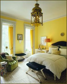 Attrayant Love The Lantern Light Fixture Yellow Rooms, Yellow Walls, Yellow Bed, Bedroom  Yellow