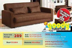 futon sofa bed storage cushion with 2 pillow