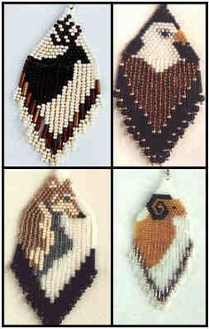 Rocky Mountain Animals Group 1 Beaded Earrings Pattern by J. E. Originals at Bead-Patterns.com by J. E. Originals