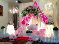 Fairy tale theme cradle decoration for naming ceremony Naming Ceremony Decoration, Marriage Decoration, Ceremony Decorations, Flower Decorations, Indian Wedding Decorations, Birthday Decorations, Baby Shower Decorations, Cradle Decoration, Cradle Ceremony