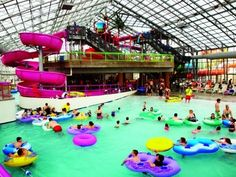 My Grandkids love the   Water-Zoo Indoor Water Park right off I-40  in  Clinton, Oklahoma!   Oklahoma visitors don't have to wait until sum...