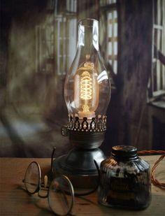 Steampunk/Industrial Desk Lamp - Arty Piston-Broke - Artisan | Age ...Denim and Chocolate