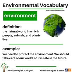 Environmental Vocabulary: environment