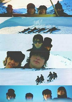 The Beatles Help! collage