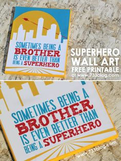 Superhero Canvas Wall Art {Free Printables} - seven thirty three