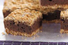 Oaty chocolate fudge slice