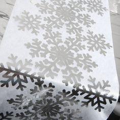 Chemin de table flocon neige