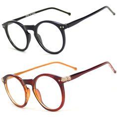 Men Women Unisex Nerd Hipster Glasses Clear Lens Eyewear Retro Oval Round Frame #Verashades #Round