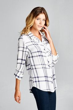 Perfectly Plaid Top #JessLeaBoutique