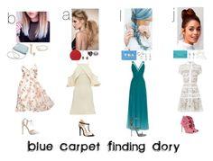 """Blue Carpet Finding Dory"" by brol-fashion ❤ liked on Polyvore featuring Elie Saab, Lulu*s, Charlotte Russe, Alexis Bittar, Furla, Marchesa, Ida Sjöstedt, Giuseppe Zanotti, Kate Spade and David Koma"