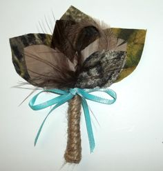 Camouflage Boutonniere- Camo Bride, green, tan taupe, brown -  camo, hunting, rustic wedding, mens boys on Etsy, $12.00