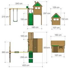 Kids Backyard Playground, Playground Set, Backyard For Kids, Wooden Outdoor Playhouse, Kids Yard, Free Shed Plans, Kids House, Play Houses, Treehouse