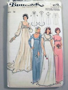 1970s Wedding Dress Bridal Gown Bridesmaids by retroactivefuture, $15.00