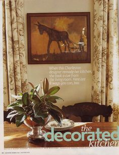 Out of Print Decorating - Country Home, February 2009, The Decorated Kitchen, featuring home of Kimberly Williams