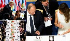 """#DailyMailUK .... """"After spending two and a half hours speaking to President Donald Trump, Russian President Vladimir Putin had dinner seated beside the American leader's wife, Melania."""".... http://www.dailymail.co.uk/news/article-4675832/G20-leaders-enjoy-performance-Beethoven-s-Ode-Joy.html"""