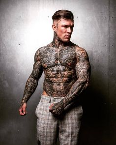 Feb 2020 - Tattooed model Andrew England, guy with tattoo Mens Body Tattoos, Hot Guys Tattoos, Sexy Tattoos, Tatoos, Body Tattoo Design, Full Body Tattoo, Tattoo Designs Men, Ink Master Tattoos, Tattoed Guys