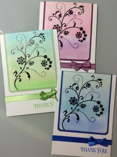 Cased from Nikki Spencer My sandbox blog spot Stampin up Flowering Flourishes For our stash at work Thank you card