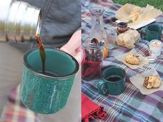 I absolutely love these mugs.  Want to have a picnic brunch right now
