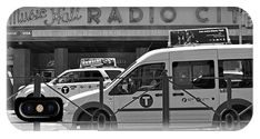 Vintage Radio City Music Hall phone case for iPhone and Android. Taxis line the street in front of the iconic Radio City Music Hall in New York City in this classic black and white street scene. Exclusive design for Apple or Samsung available only on Fine Art America and Pixels.com.  https://andrea-rea.pixels.com/
