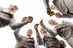 Groomsmen photo would be great to do in front of grooms home cheers