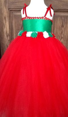 Hey, I found this really awesome Etsy listing at https://www.etsy.com/listing/204070129/christmas-tutu-dress-with-shabby-chic