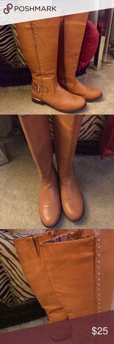 New Wide calf Tan boots New! Wide calf, tan boots.  A large Size 10.  I love them but the are too big.  Maybe a wide size 10. Lane Bryant Shoes Winter & Rain Boots