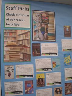 Staff Picks Bulletin Board Display by Eden Prairie Library - HCL, via Flickr