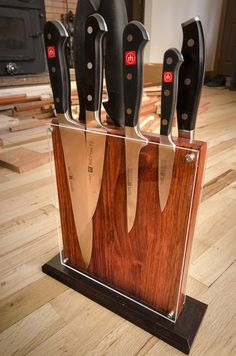 Knife Holder Contemporary/Modern Design - by Russell Eck @ LumberJocks.com ~ woodworking community