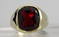vintage mens ruby rings | ...still not right