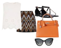 """Untitled #634"" by jmajersky ❤ liked on Polyvore featuring DKNY, River Island, Hermès and Bulgari"