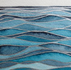 Items similar to WAVES Watercolor seascape / Original wall art/ Hand painted watercolor/ Nautical artwork on Etsy Arte Bar, Nautical Artwork, Nautical Painting, Wave Art, Ocean Art, Ocean Waves, Art Mural, Beach Art, Painting Inspiration