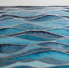 WAVES 3/ Watercolor seascape / Original wall art/ Hand painted watercolor/ Nautical artwork via Etsy