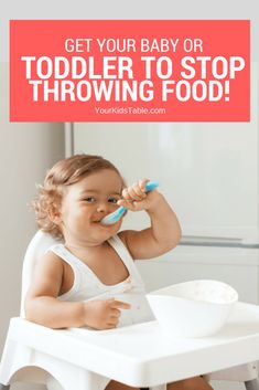 Need help with your baby or toddler throwing food on the floor during meals? Get these easy strategies you can start using today from a mom and feeding therapist that's been there. Infant Activities, Activities For Kids, Toddler Snacks, Toddler Stuff, Kid Stuff, Thing 1, Baby Eating, Parenting Toddlers, Parenting Advice