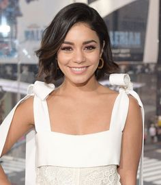 Vanessa Hudgens Now Has the Coolest Choppy Bangs | Vanessa Hudgens debuted a set of new choppy bangs on Instagram. See the new look created by celebrity hairstylist Chad Wood here.