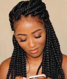 Half+Updo+With+Thick+Box+Braids