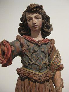 Saint Gabriel, polychrome state.  Museum of Ancient Art, Lisbon