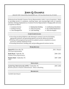 Customer Service Resume