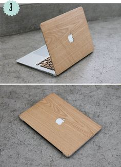Wood Apple Mac case. And the Mac