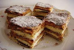Réteges kakaós-fahéjas krémes recept képpel. Hozzávalók és az elkészítés részletes leírása. A réteges kakaós-fahéjas krémes elkészítési ideje: 45 perc My Recipes, Sweet Recipes, Cake Recipes, Cooking Recipes, Hungarian Cake, Hungarian Recipes, Hungarian Food, Cracker Toffee, Fast Food Restaurant