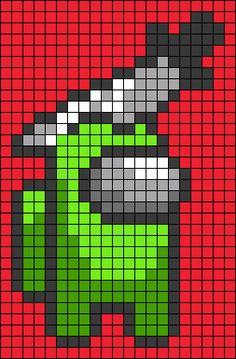Alpha pattern #59243 | BraceletBook Easy Perler Bead Patterns, Melty Bead Patterns, Perler Bead Templates, Diy Perler Beads, Perler Bead Art, Beading Patterns, Piskel Art, Pix Art, Graph Paper Drawings