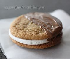 S'mores Cookie Sandwiches ***Tried the Graham Cracker cookie recipe and it was a yummy chewy cookie with some resemblance of the taste of a graham cracker. ML