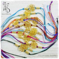 LADY BLING 01. Pulseras de cuerda en vivos por HaveaFlowerDay